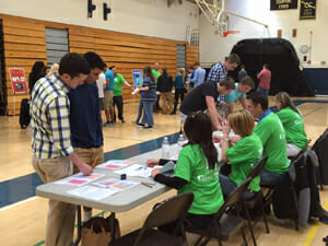 Reality Fair at the Chambersburg High School in April 2015